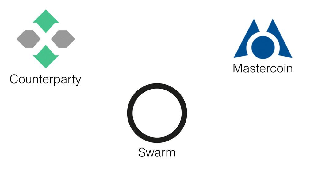 Counterparty Mastercoin Swarm