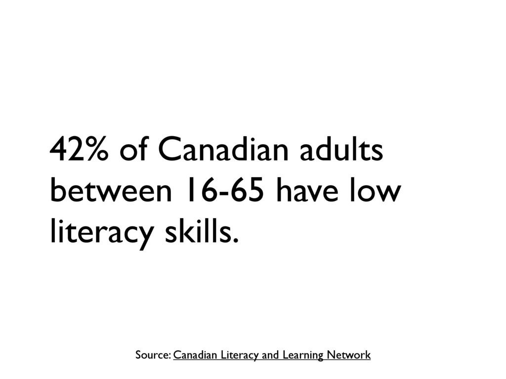Source: Canadian Literacy and Learning Network ...