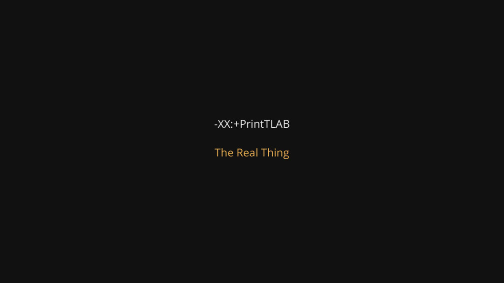 -XX:+PrintTLAB The Real Thing