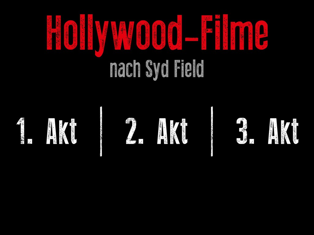 Hollywood-Filme nach Syd Field 1. Akt | 2. Akt ...