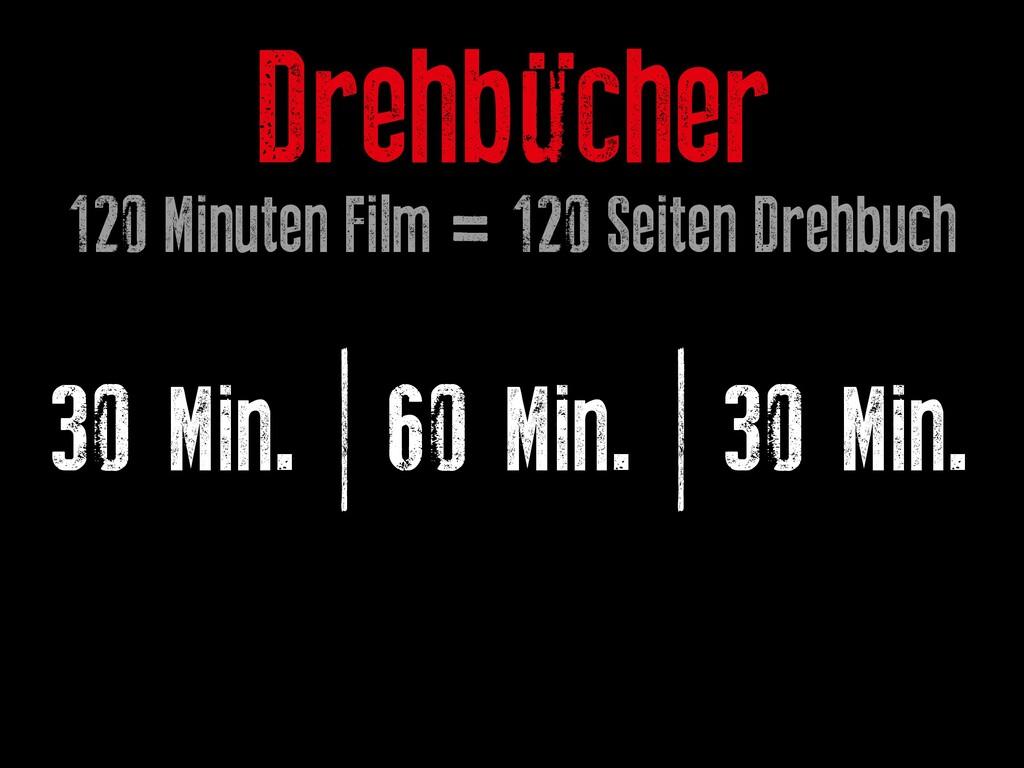 30 Min. | 60 Min. | 30 Min. Drehbücher 120 Minu...