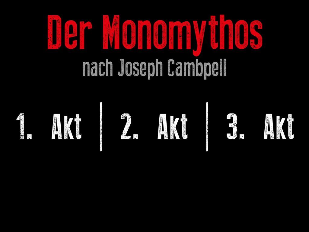 Der Monomythos nach Joseph Cambpell 1. Akt | 2....