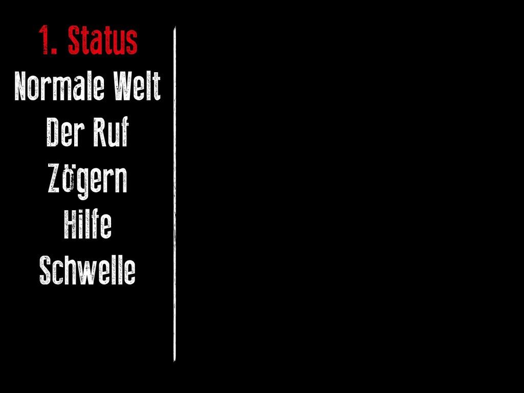 1. Status Normale Welt Der Ruf Zögern Hilfe Sch...