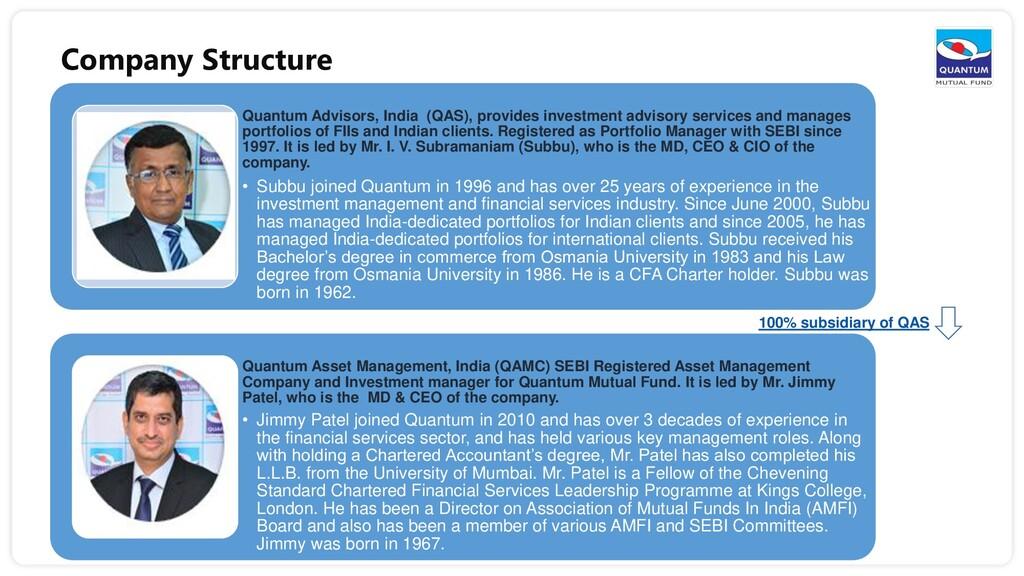 Company Structure Quantum Advisors, India (QAS)...