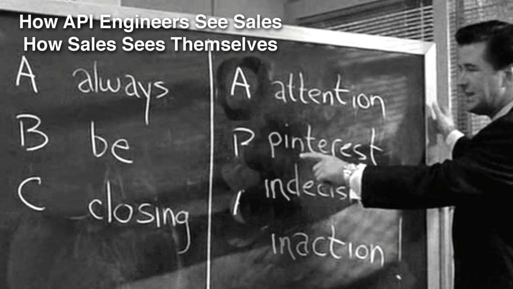 How API Engineers See Sales How Sales Sees Them...