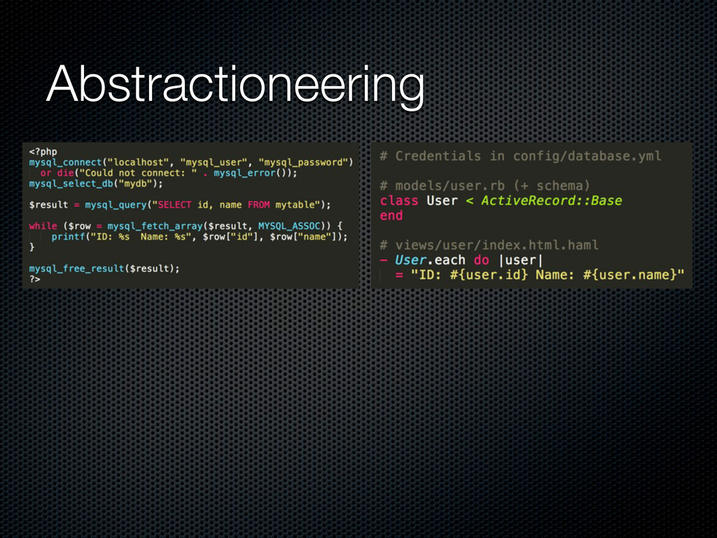 Abstractioneering