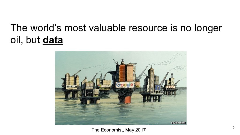 The world's most valuable resource is no longer...