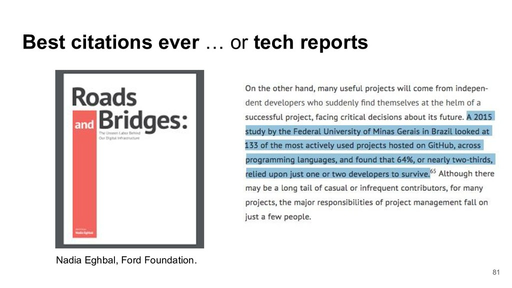 81 Best citations ever … or tech reports Nadia ...