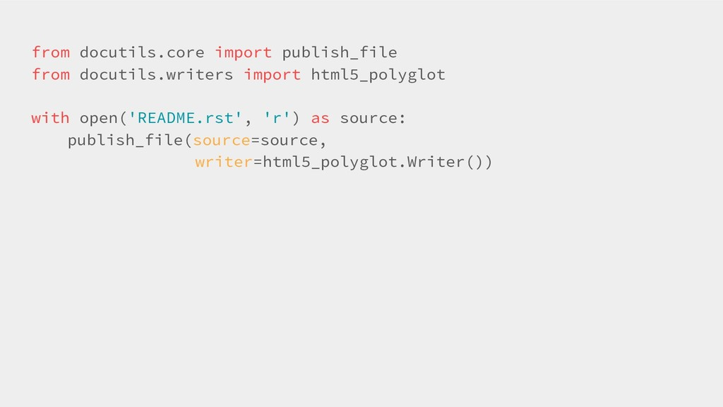 from docutils.core import publish_file from doc...
