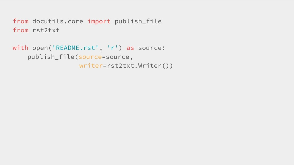 from docutils.core import publish_file from rst...