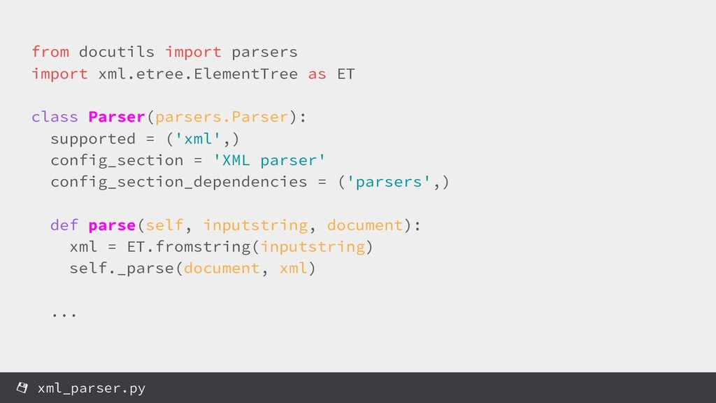 from docutils import parsers import xml.etree.E...