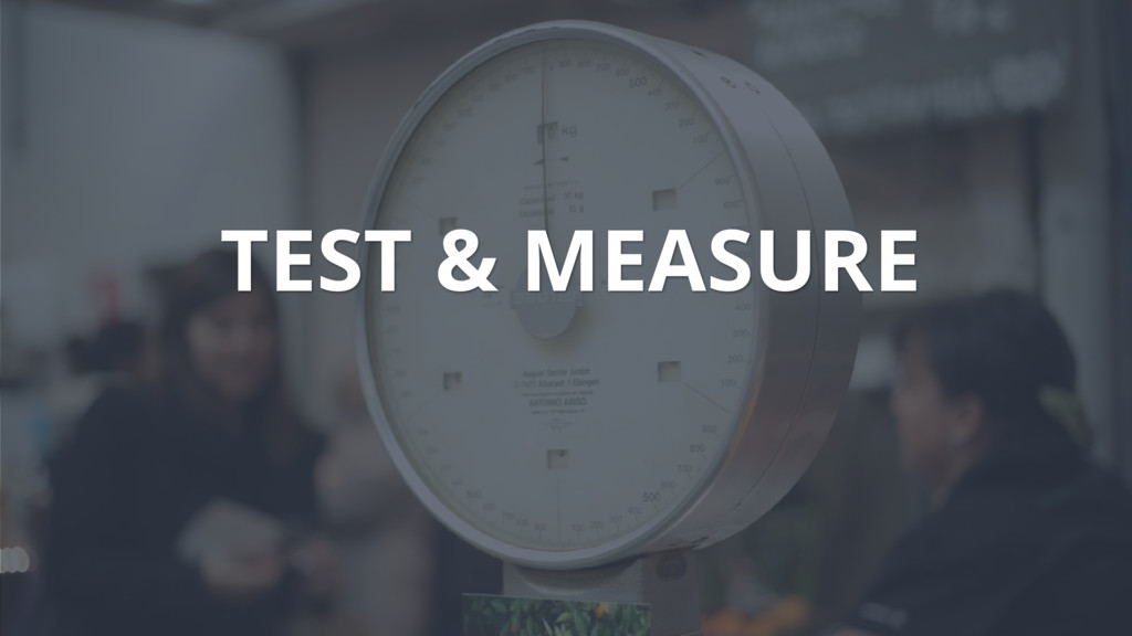 TEST & MEASURE