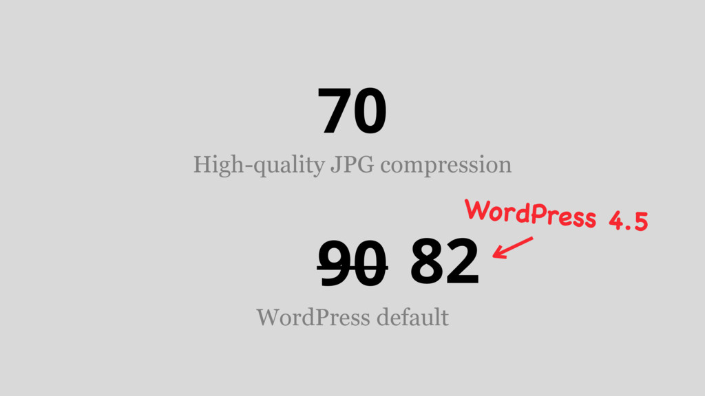 90 WordPress default 70 High-quality JPG compre...