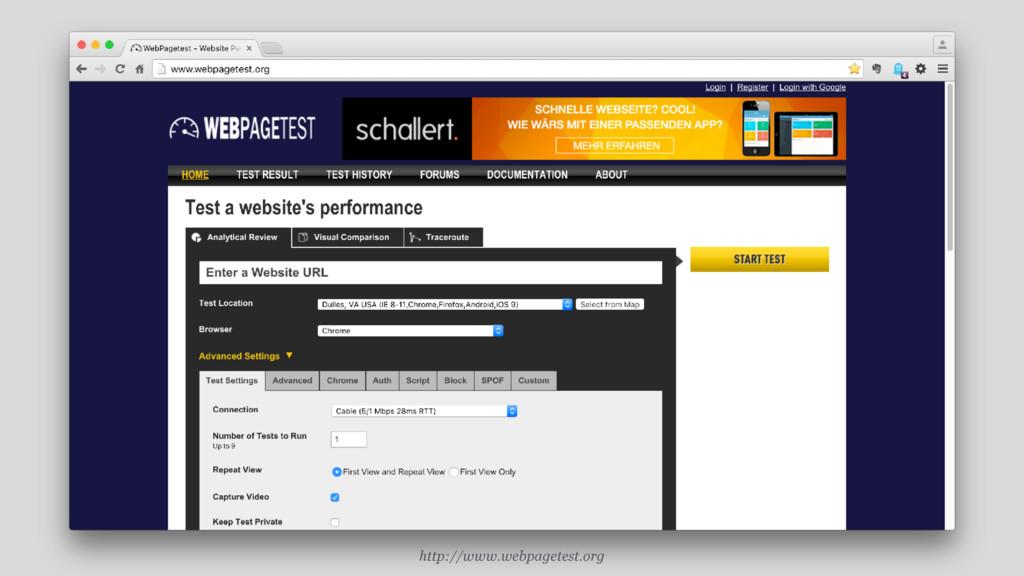 http://www.webpagetest.org
