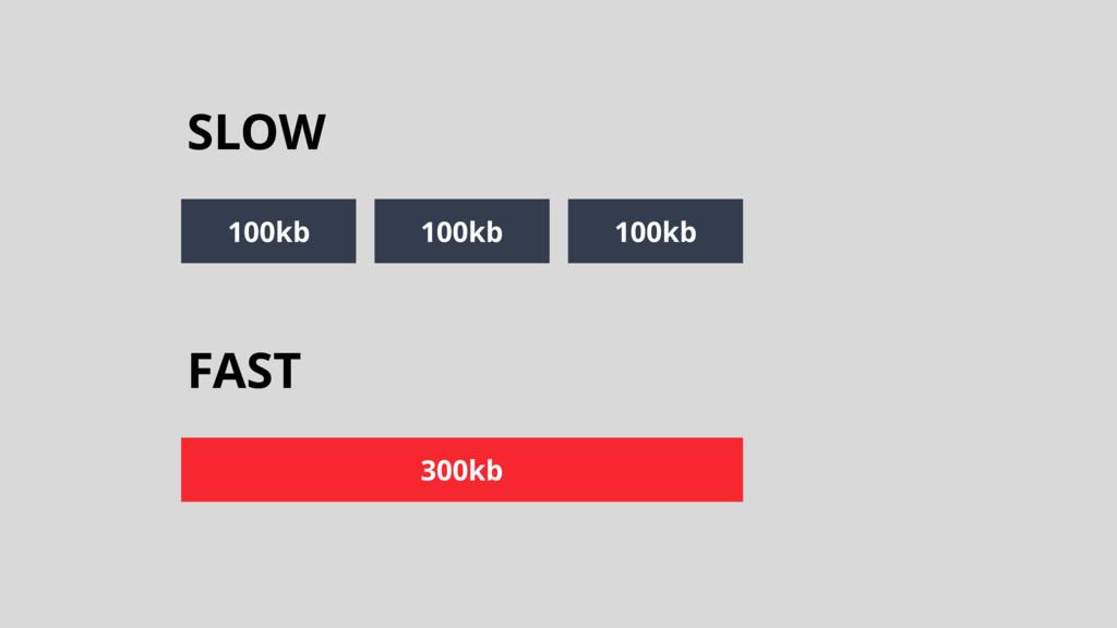 FAST 300kb SLOW 100kb 100kb 100kb