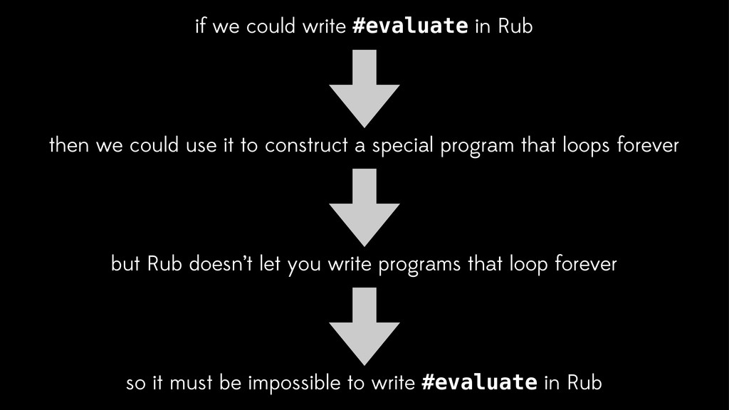 if we could write #evaluate in Rub so it must b...