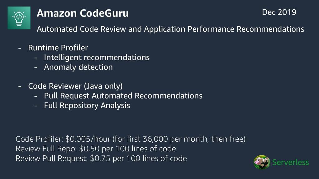 Amazon CodeGuru Automated Code Review and Appli...