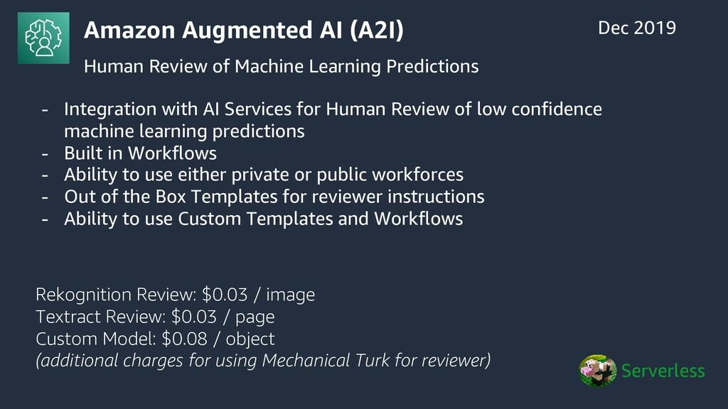 Amazon Augmented AI (A2I) Human Review of Machi...