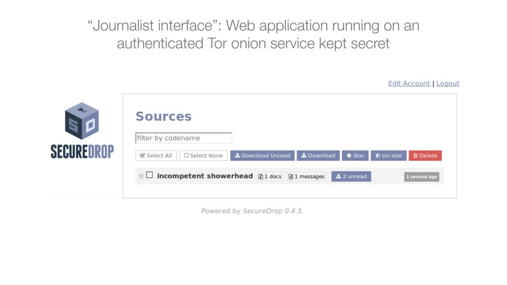 """Journalist interface"": Web application running..."