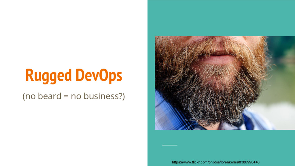 Rugged DevOps (no beard = no business?) https:/...