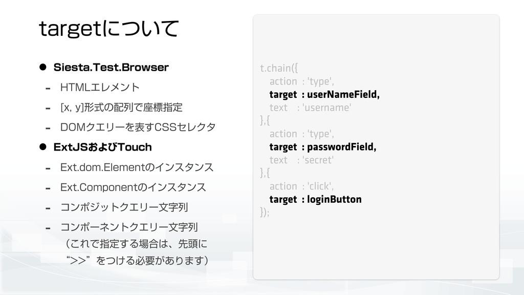 UBSHFUʹ͍ͭͯ t.chain({ action : 'type', target : ...