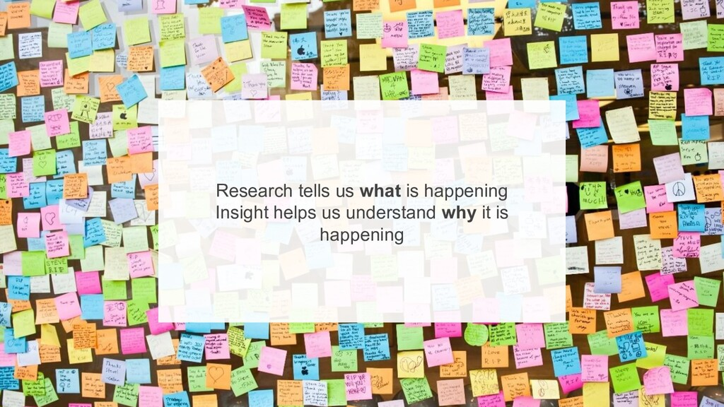 5 Research tells us what is happening Insight ...