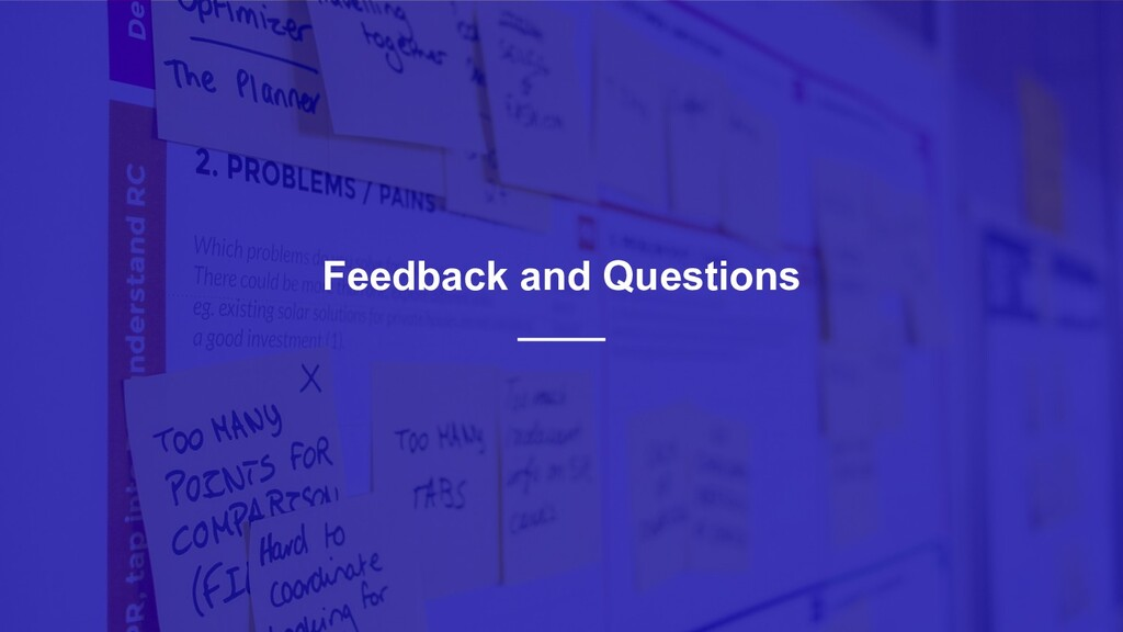 41 Feedback and Questions