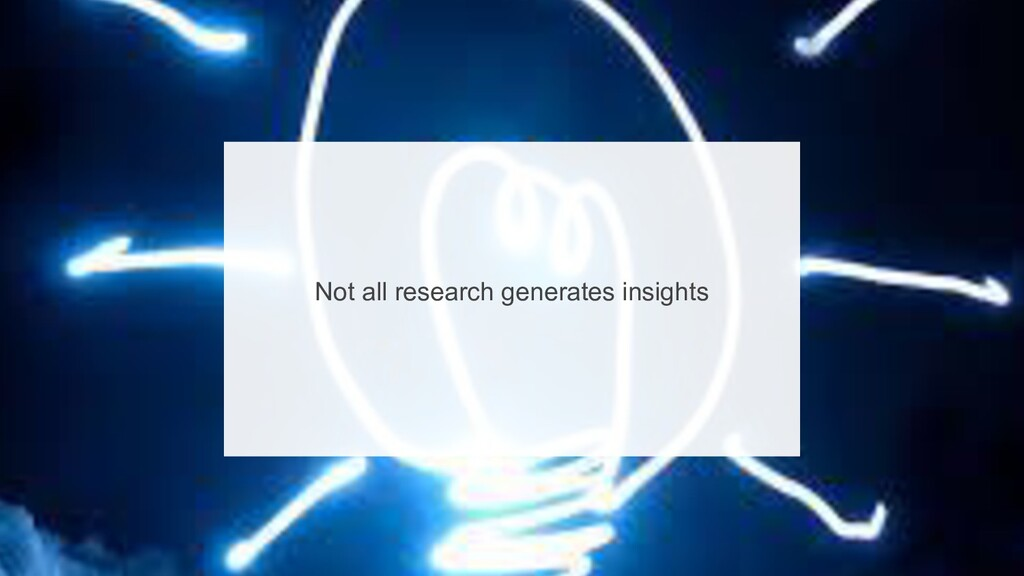 8 Not all research generates insights