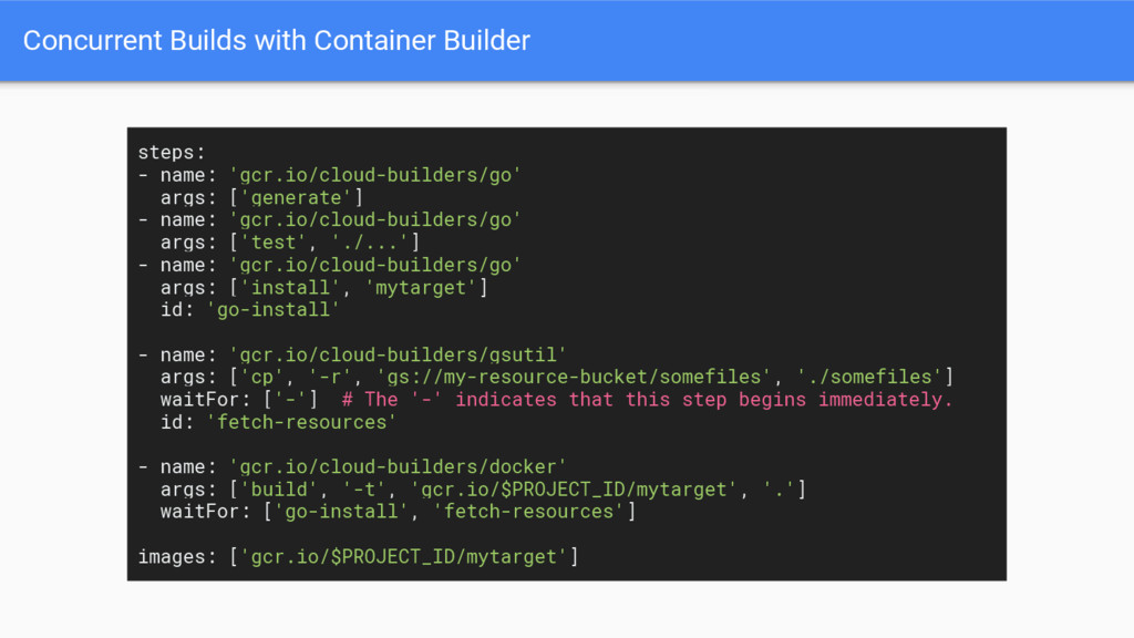 Concurrent Builds with Container Builder steps:...