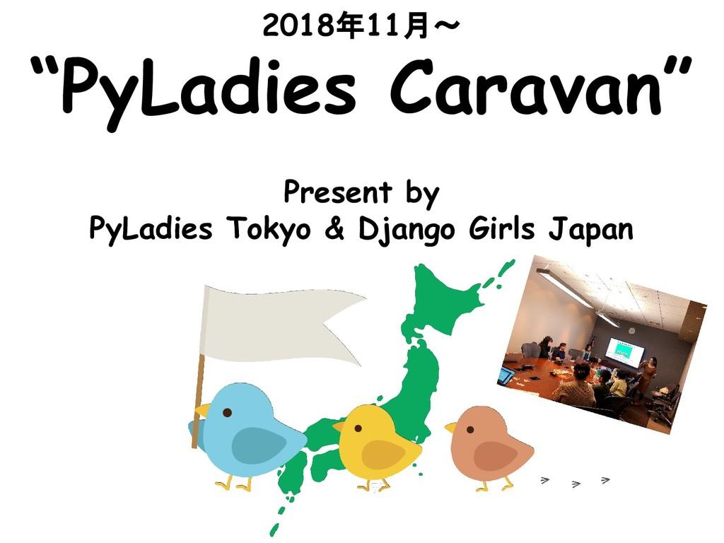 """2018年11月〜 """"PyLadies Caravan"""" Present by PyLadie..."""