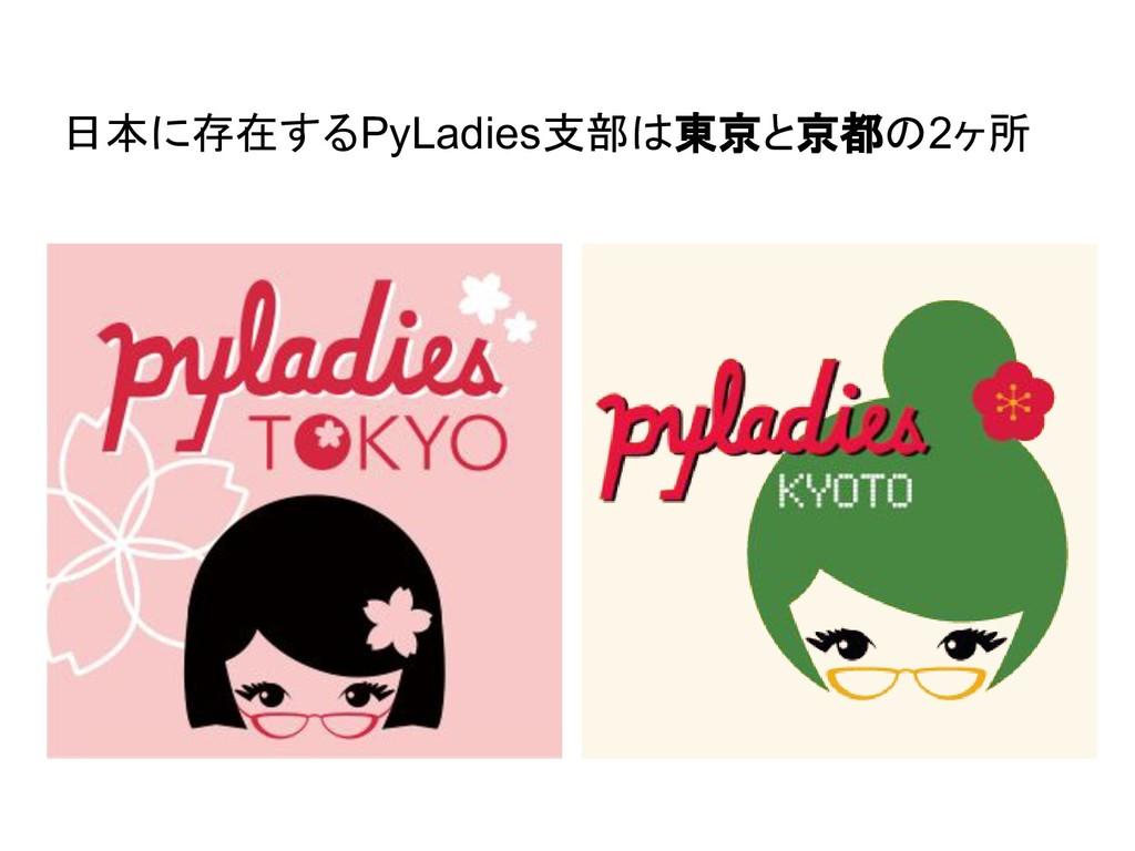 日本に存在するPyLadies支部は東京と京都の2ヶ所