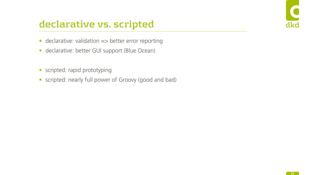 declarative vs. scripted • declarative: validat...