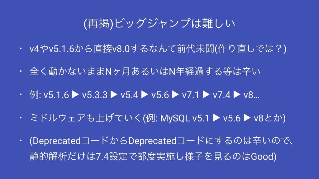 (࠶ܝ)Ϗοάδϟϯϓ͍͠ • v4v5.1.6͔Βv8.0͢ΔͳΜͯલະฉ(࡞Γ...