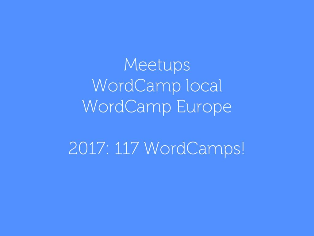 Meetups WordCamp local WordCamp Europe 2017: 11...