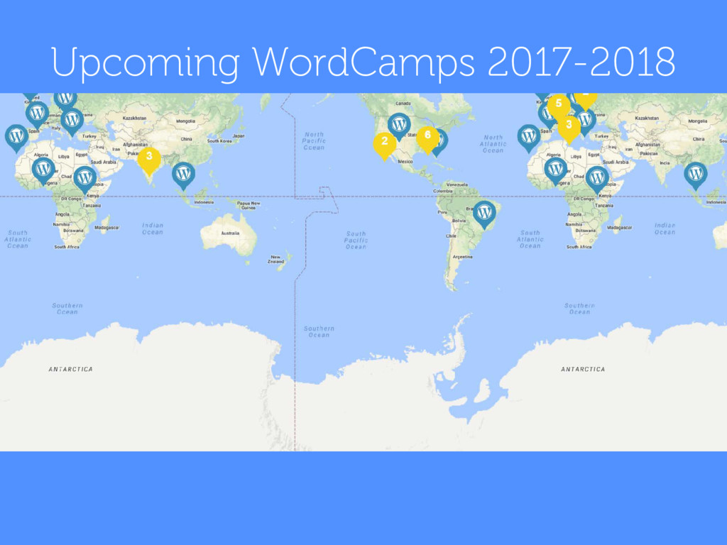 Upcoming WordCamps 2017-2018
