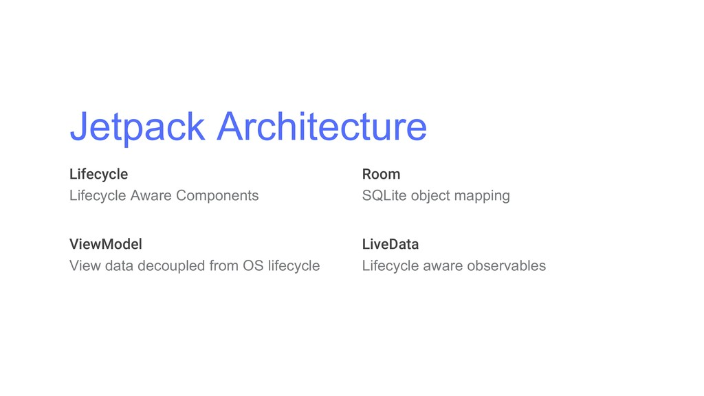 Jetpack Architecture Lifecycle Lifecycle Aware ...