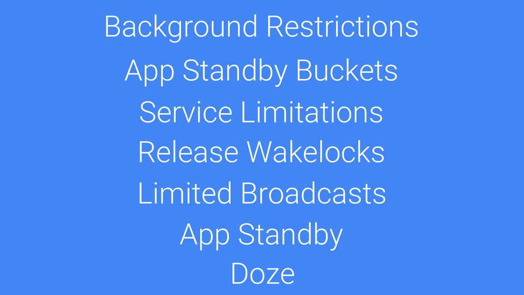 Unlimited Background Services Doze App Standby ...