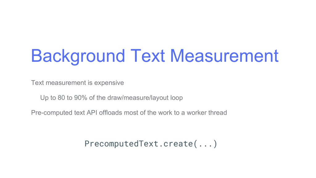 Background Text Measurement Text measurement is...