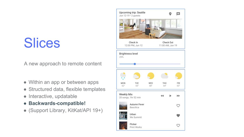 Slices A new approach to remote content ● Withi...