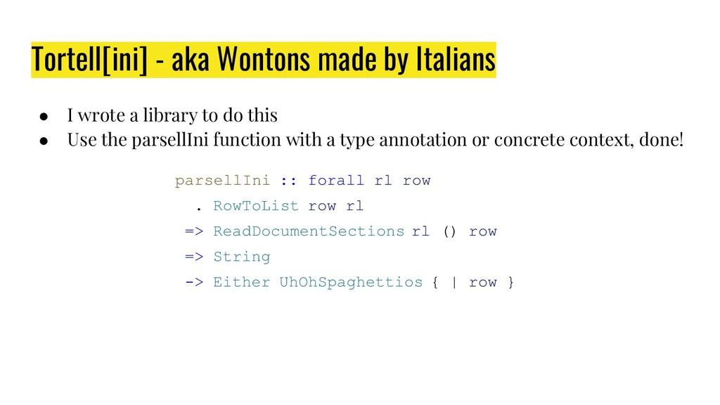 Tortell[ini] - aka Wontons made by Italians ● I...