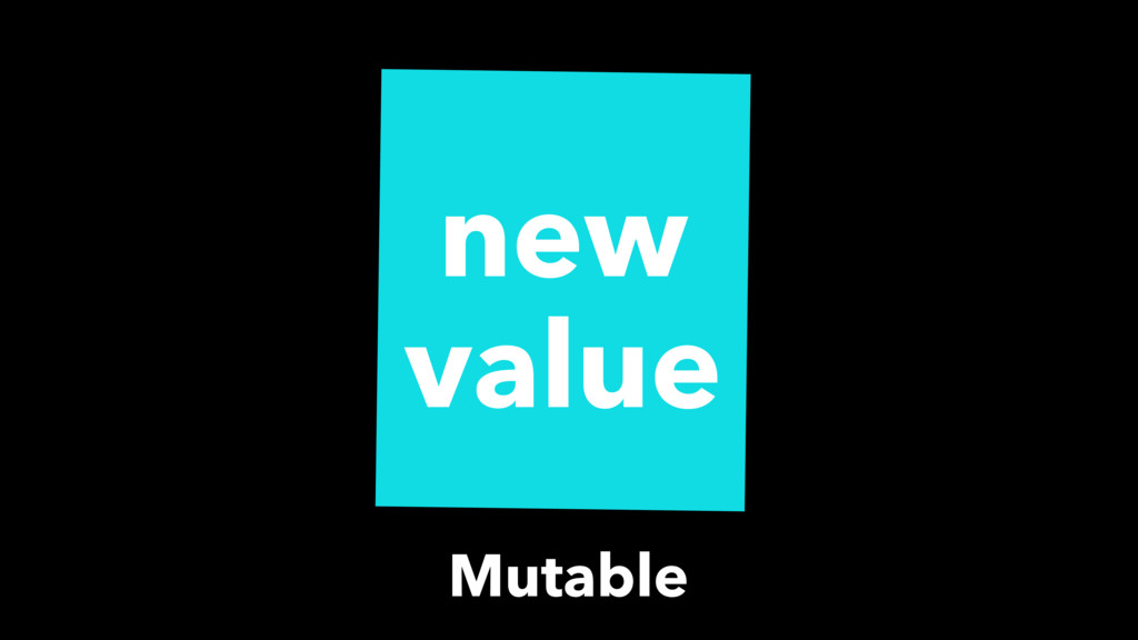 new value Mutable