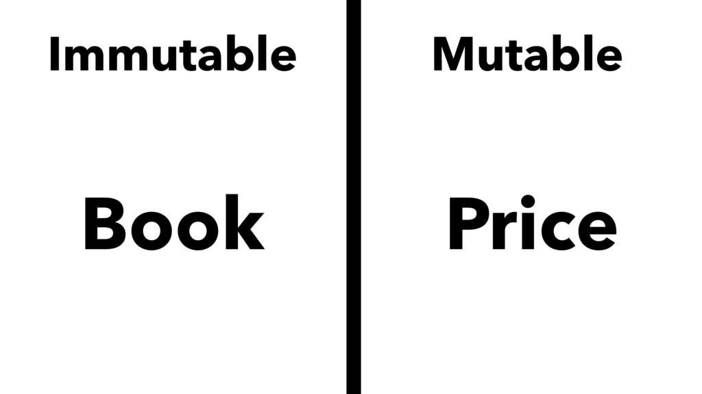 Immutable Book Mutable Price