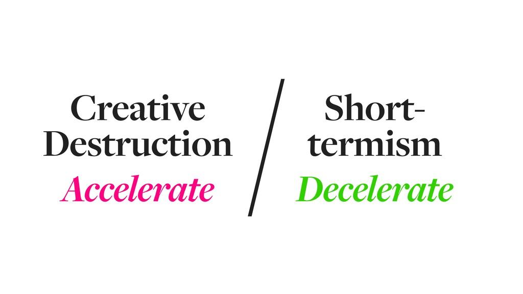 Creative Destruction Accelerate Short- termism ...