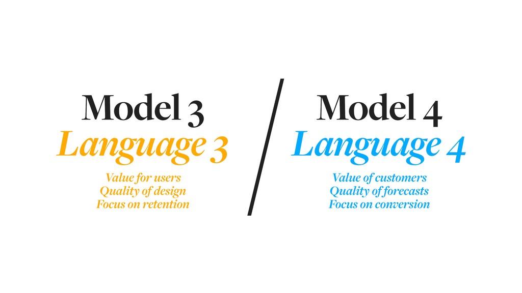 Model 3 Language 3    Model 4 Language 4  ...