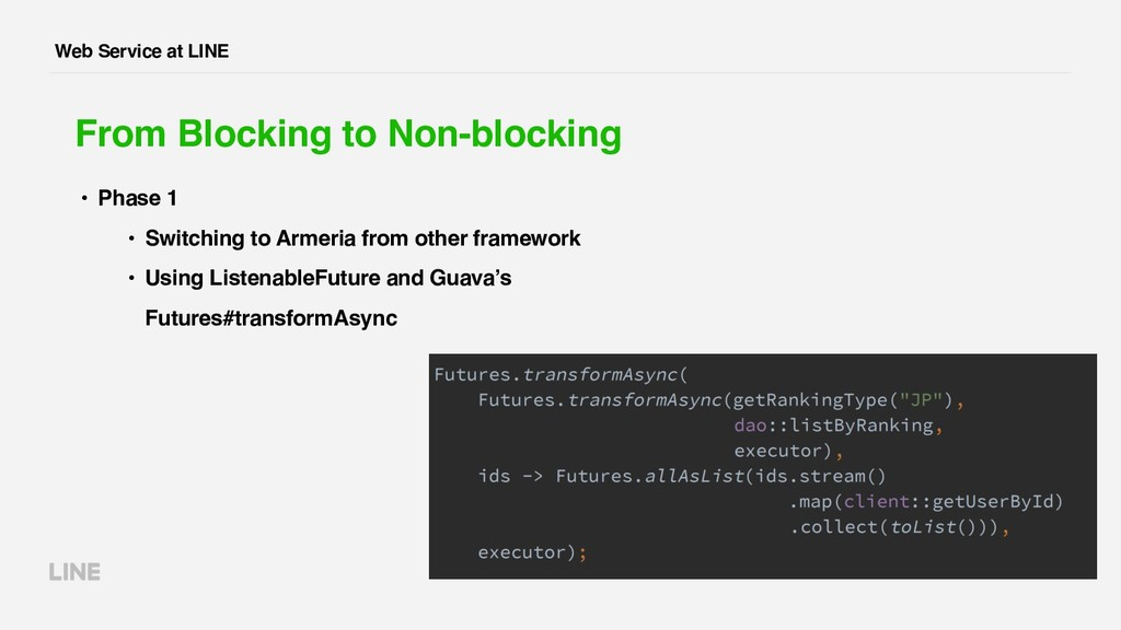 Web Service at LINE From Blocking to Non-blocki...