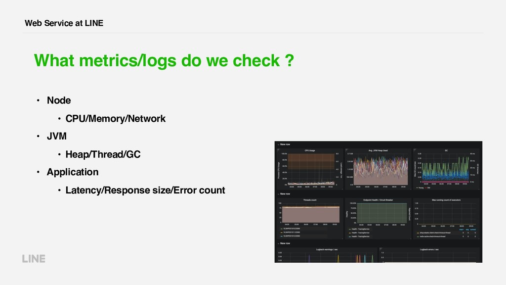 Web Service at LINE What metrics/logs do we che...