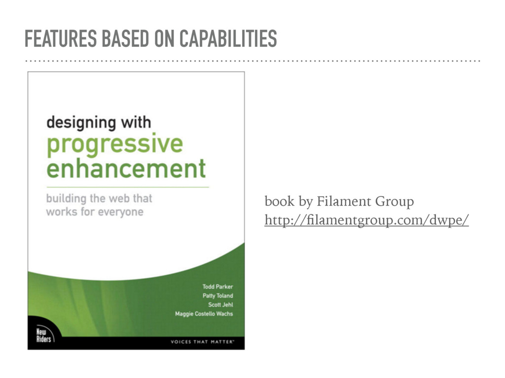 FEATURES BASED ON CAPABILITIES book by Filament...