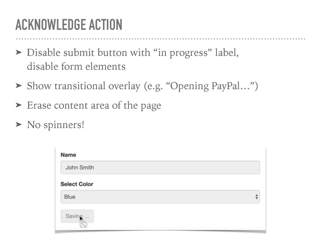 ACKNOWLEDGE ACTION ➤ Disable submit button with...