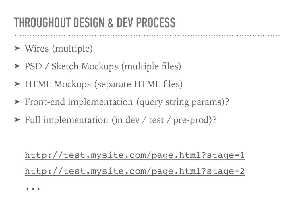 THROUGHOUT DESIGN & DEV PROCESS ➤ Wires (multip...