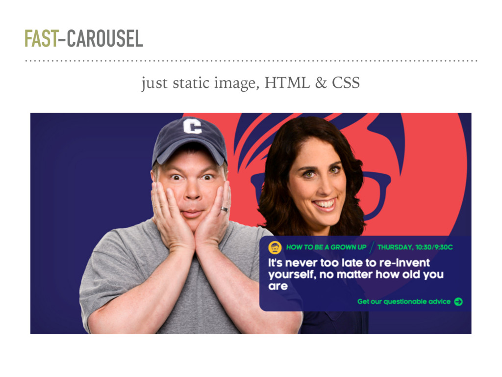 FAST-CAROUSEL just static image, HTML & CSS